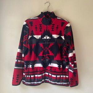 Ralph Lauren Southwestern  Zip Fleece Jacket